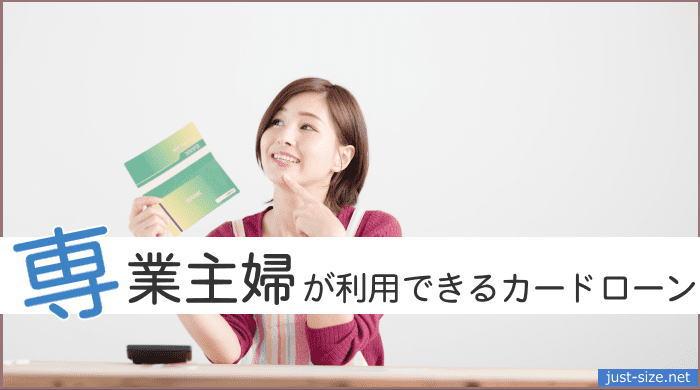 専業主婦が利用できるカードローンのイメージ